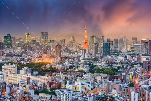Tokyo Japan Cityscape - Stock Photo - Images