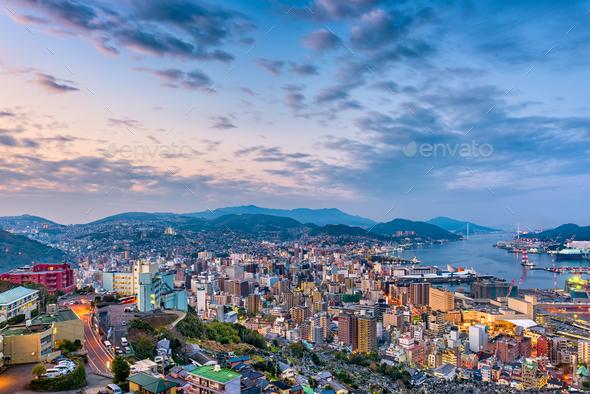 Nagasaki, Japan Cityscape - Stock Photo - Images