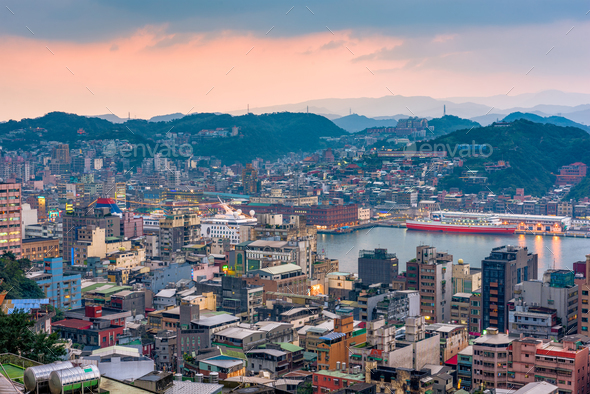 Keelung, Taiwan Skyline - Stock Photo - Images