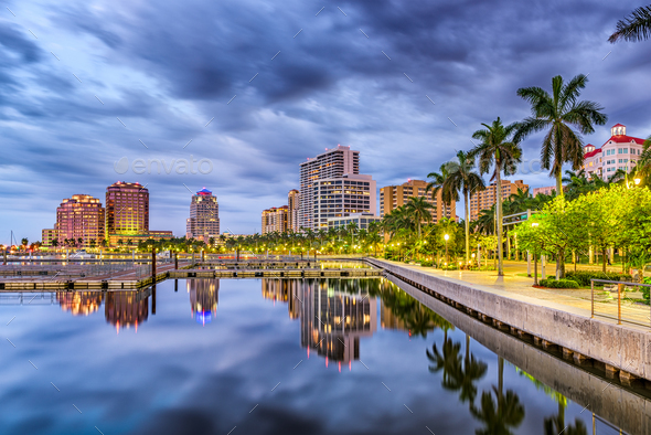 West Palm Beach Florida - Stock Photo - Images