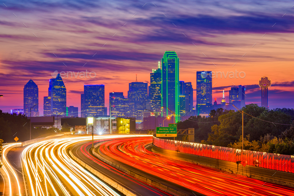 Dallas, Texas Skyline - Stock Photo - Images