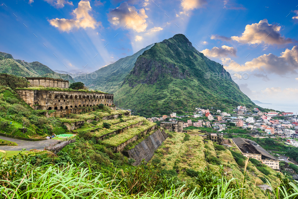 Jiufen Taiwan Ruins - Stock Photo - Images