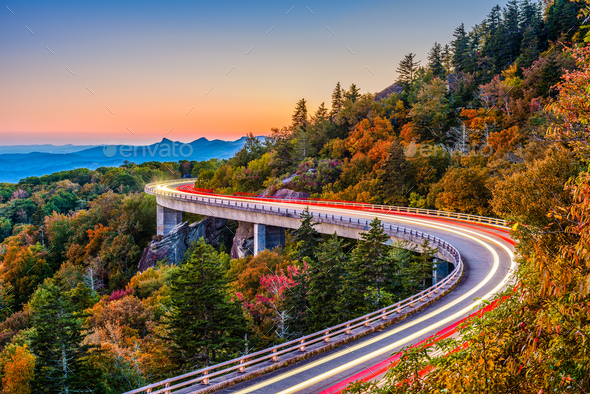 Linn Cove Viaduct - Stock Photo - Images