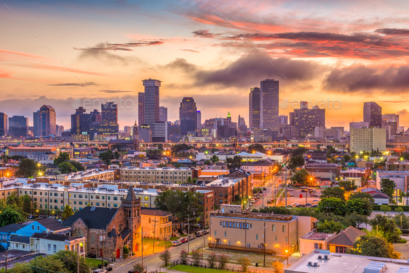 New Orleans Louisana Skyline - Stock Photo - Images
