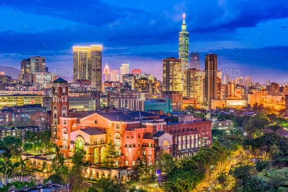 Taipei, Taiwan Skyline - Stock Photo - Images