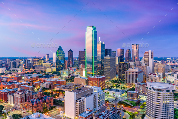 Dallas Texas Skyline - Stock Photo - Images
