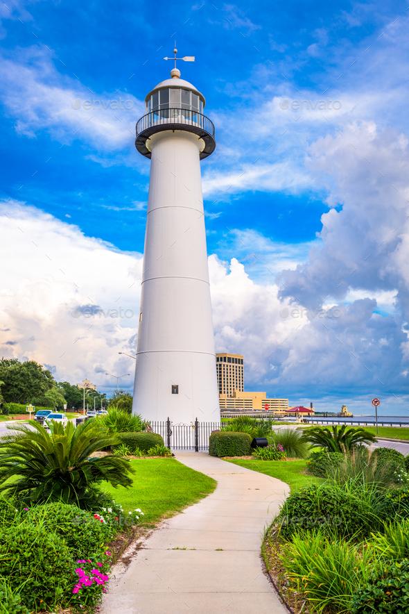 Biloxi Lighthouse - Stock Photo - Images