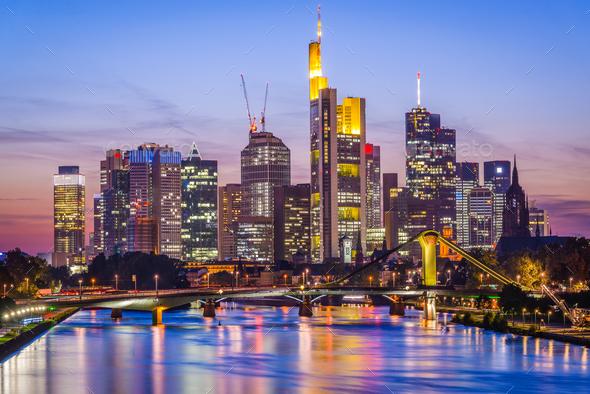 Frankfurt Am Main Skyline - Stock Photo - Images