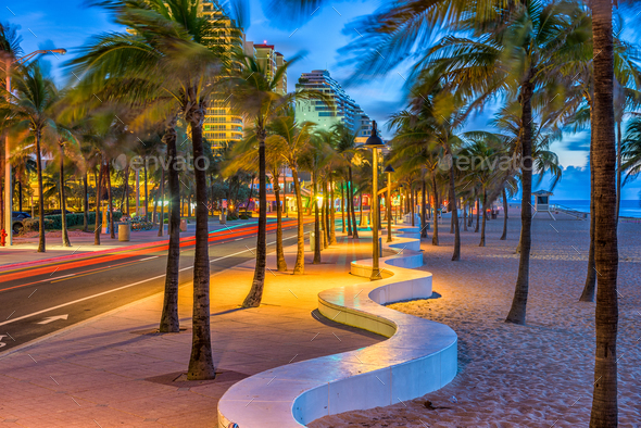 Fort Lauderdale Beach - Stock Photo - Images
