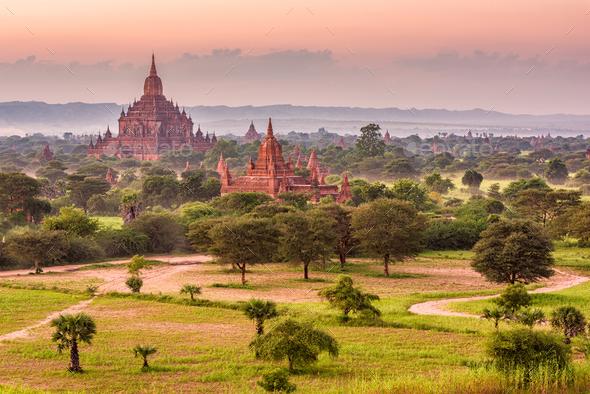 Bagan, Myanmar Temples - Stock Photo - Images