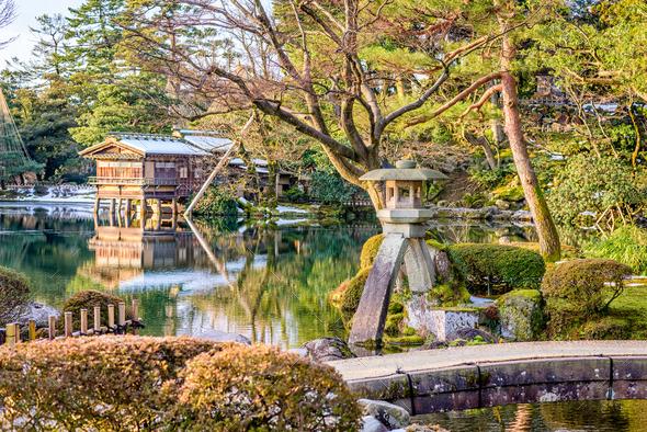 Kanazawa, Japan Gardens - Stock Photo - Images