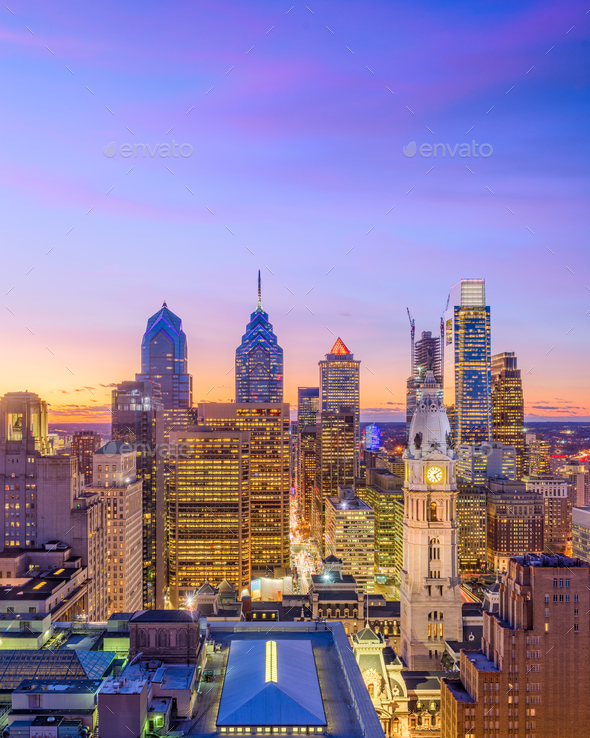 Philadelphia Pennsylvania Cityscape - Stock Photo - Images