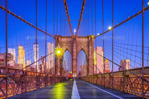 Brooklyn Bridge New York - Stock Photo - Images