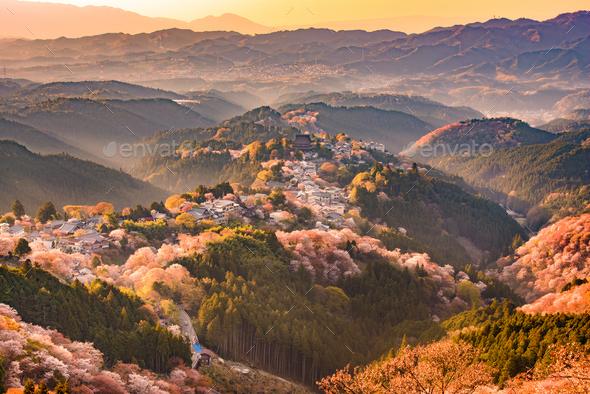 Yoshinoyama, Japan in Spring - Stock Photo - Images