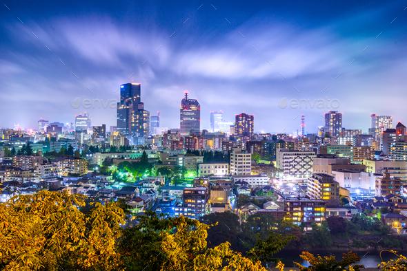 Sendai, Japan Cityscape - Stock Photo - Images