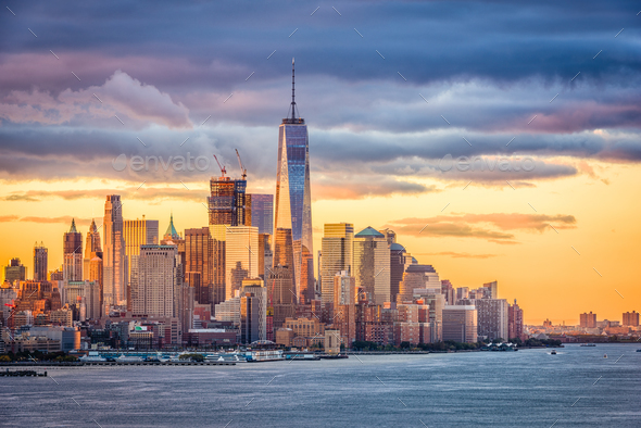 New York City Dawn - Stock Photo - Images