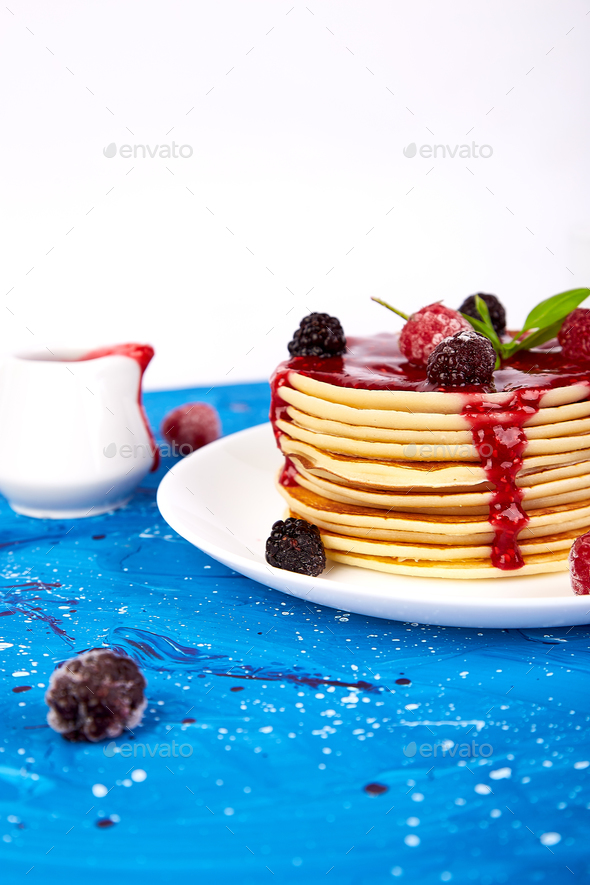 Pancake for breakfast - Stock Photo - Images