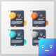 Abstract Infographic Dark Stickers (2 Styles)