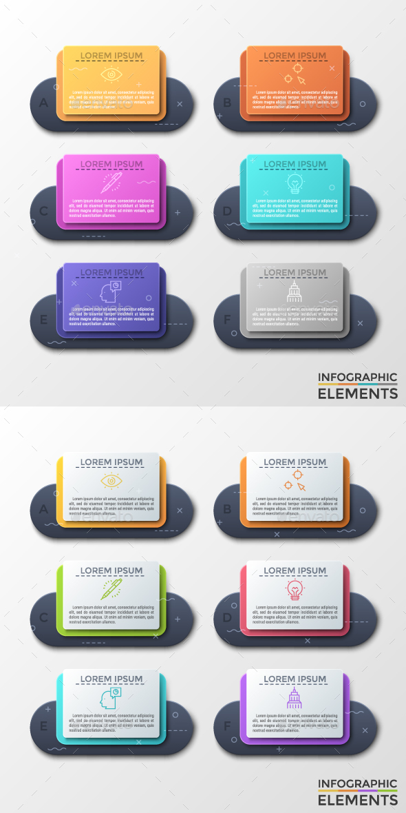 Futuristic Infographic Paper Frames (2 Styles) - Infographics