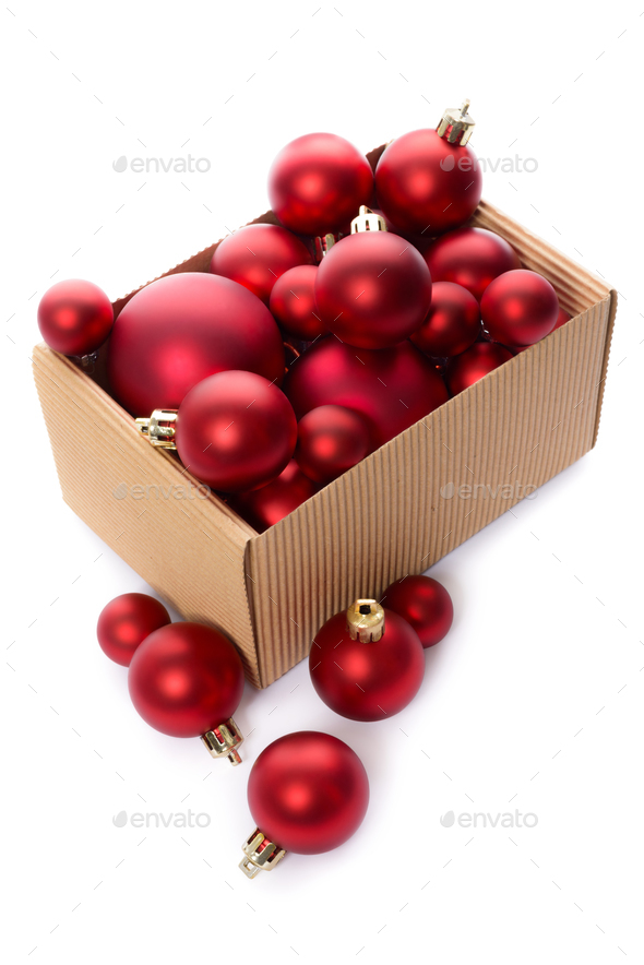 Red Christmas balls - Stock Photo - Images
