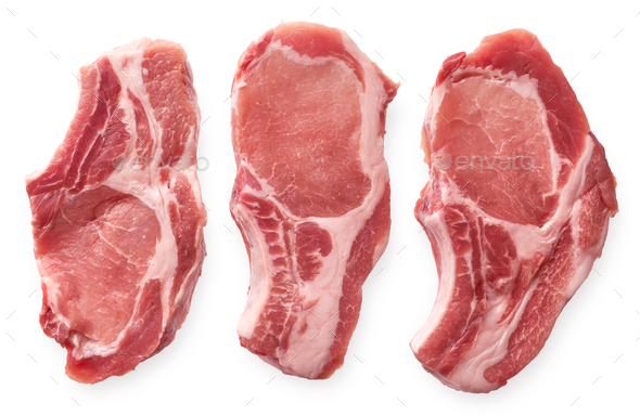 Raw pork cutlet - Stock Photo - Images