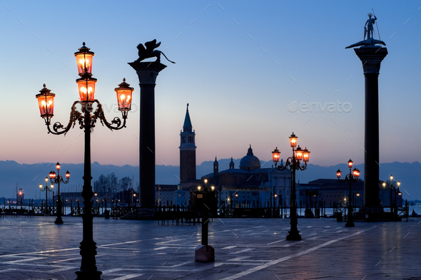 Morning at San Marco square - Stock Photo - Images
