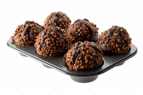 Dark chocolate muffins - Stock Photo - Images