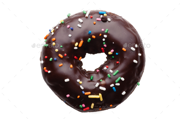 Chocolate donut - Stock Photo - Images