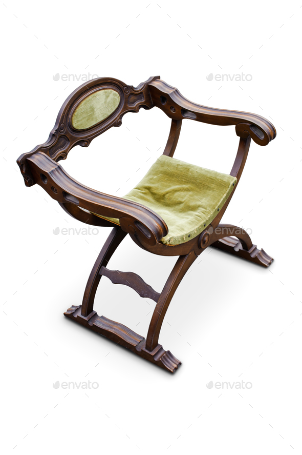 Antique renaissance italian armchair - Stock Photo - Images