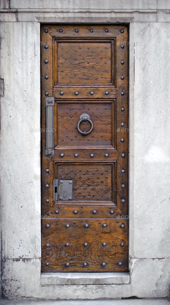 Antique wooden door - Stock Photo - Images