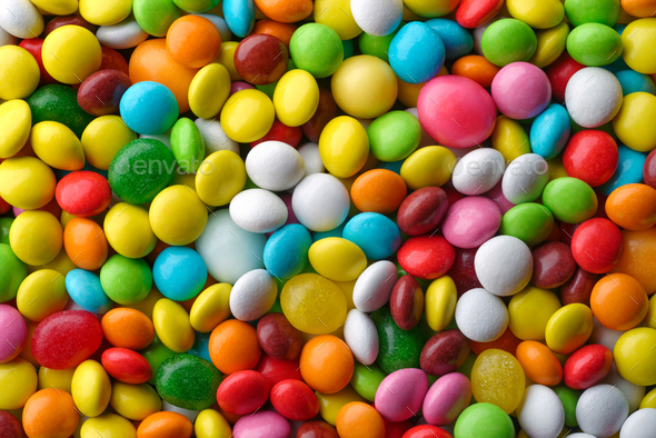Multicolored round candies - Stock Photo - Images