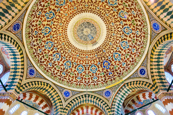 Tomb of Sultan Selim II interior - Stock Photo - Images