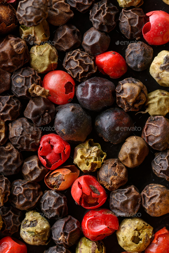 Assorted pepper corns - Stock Photo - Images