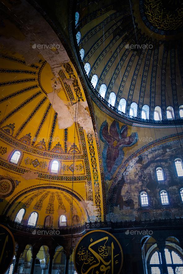 Hagia Sophia interior - Stock Photo - Images