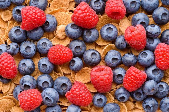 Multigrain muesli with berries - Stock Photo - Images