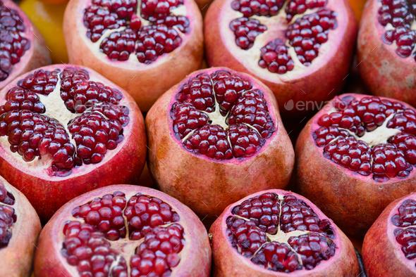 Pomegranates - Stock Photo - Images