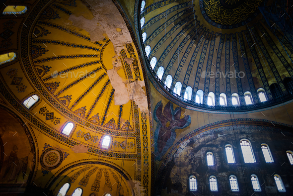 Hagia Sophia interior - Stock Photo - Images