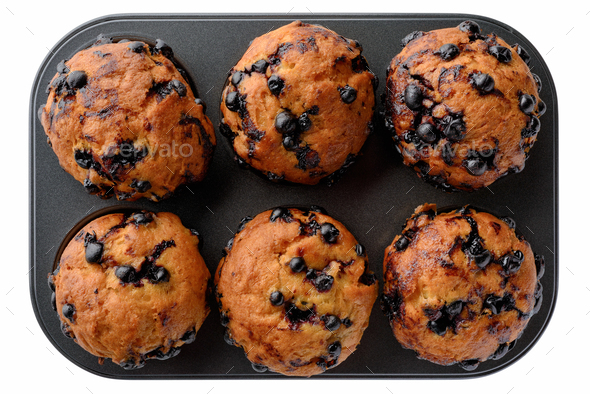 Black currant muffins - Stock Photo - Images