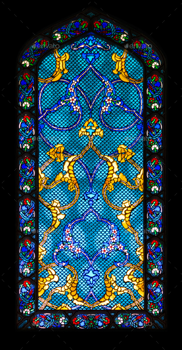 Stained-glass window - Stock Photo - Images