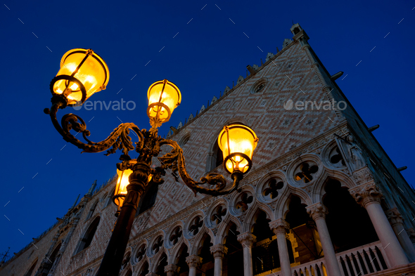 Evening at San Marco square - Stock Photo - Images