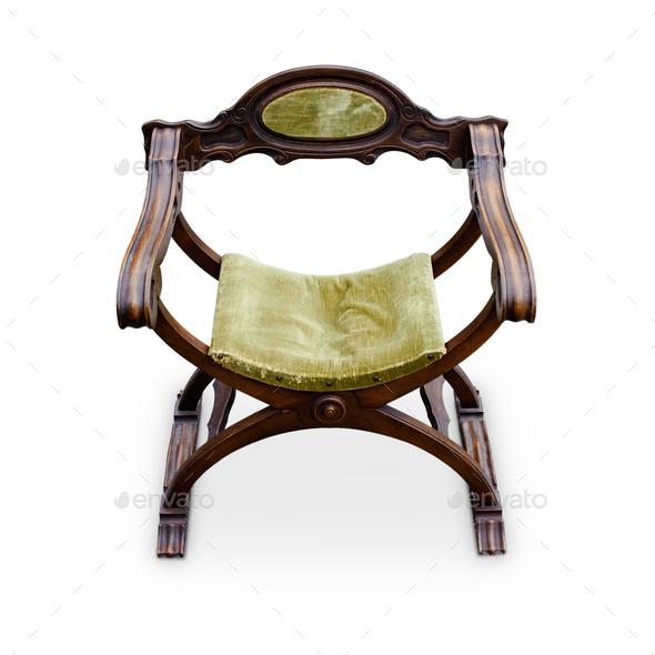 Antique renaissance italian armchair - Stock Photo - Images