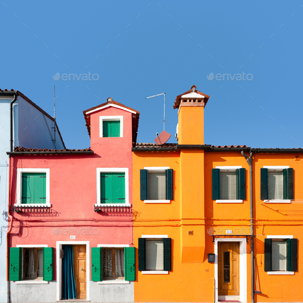Colorful houses - Stock Photo - Images