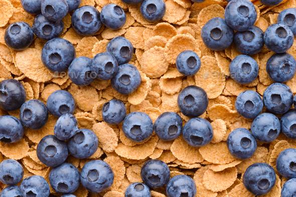 Multigrain muesli with berries - Stock Photo - Images
