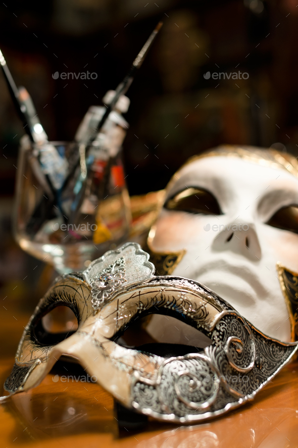 Venice carnival mask - Stock Photo - Images