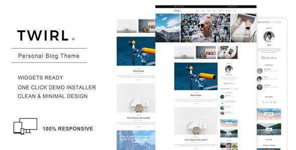 Twirl - A Personal WordPress Blog Theme - Personal Blog / Magazine