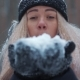 Girl Blowing Snow in the Air - VideoHive Item for Sale