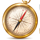 Vintage Compass In Metal Case - GraphicRiver Item for Sale