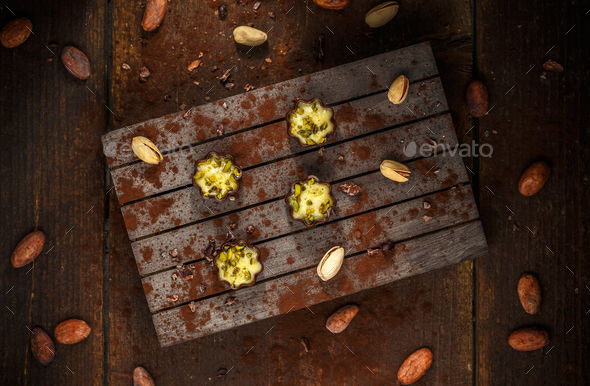 Finest marzipan of pistachios - Stock Photo - Images