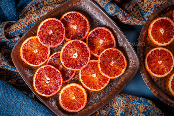Red blood orange - Stock Photo - Images