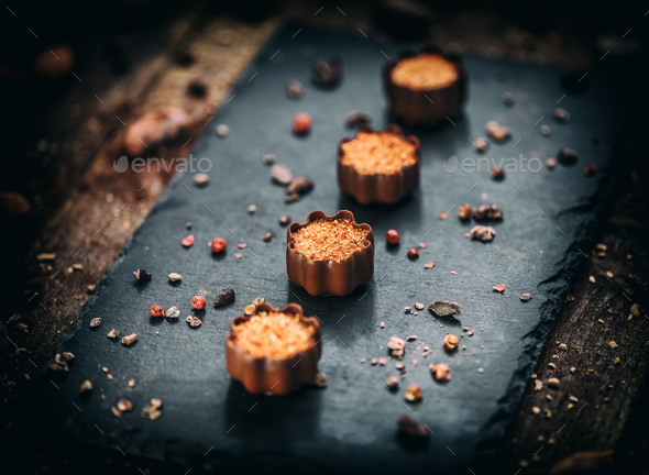Fine chocolate pralines - Stock Photo - Images